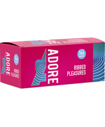 Adore Condoms Ribbed Pleasure