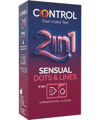 Control 2-in-1 Sensual Dots & Lines